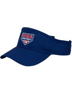 USA Softball Blue Visor