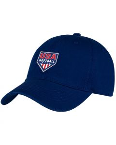 USA Softball Structured Blue Hat
