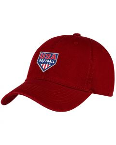 USA Softball Unstructured Red Hat